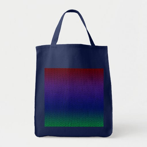 Tote de Stockinette del arco iris Bolsa Tela Para La Compra