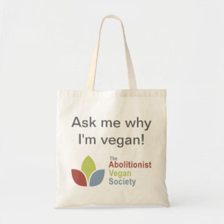 ¡Tote de TAVS - pregúnteme porqué soy vegano - In Bolsa