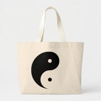 Tote de Yin Yang femenino arriba Bolsa Tela Grande
