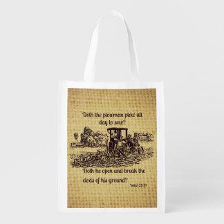 Tote del 28:24 de Isaías de la granja del vintage Bolsa De La Compra