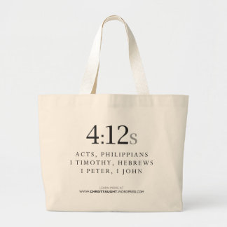 tote del 4:12 s bolsa lienzo