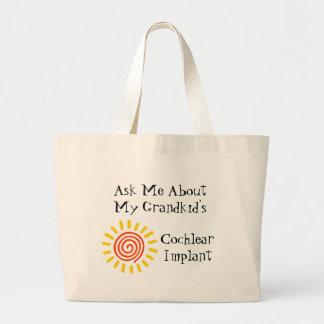 Tote del abuelo bolsa tela grande
