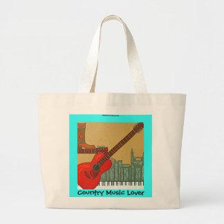 Tote del amante de música country bolsas de mano