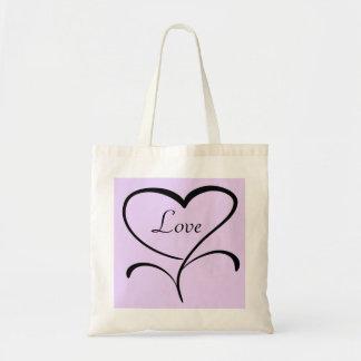 Tote del amor bolsa de mano