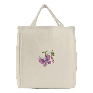Tote del amor de la mariposa bolsa de mano bordada