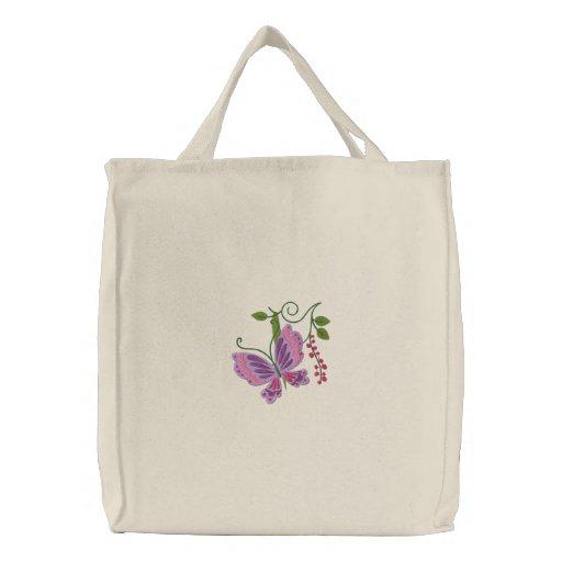 Tote del amor de la mariposa bolsas