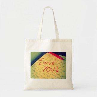 Tote del amor/del odio bolsas lienzo