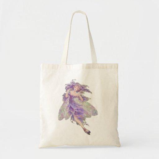 Tote del arte de la fantasía - hada de las glicini bolsas