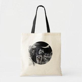 Tote del arte de los bandidos de la noche bolsa de mano