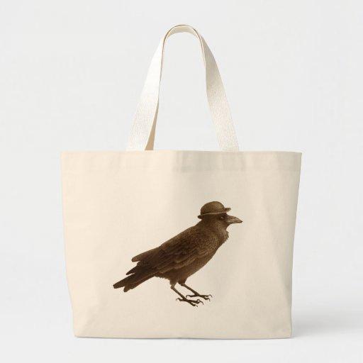 Tote del arte del cuervo bolsa de mano