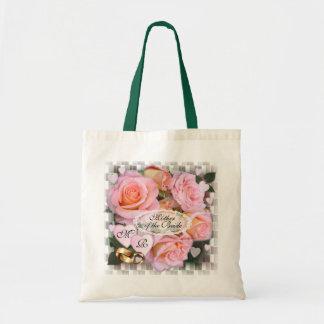 Tote del boda del ~ de los rosas y de los bolsa tela barata