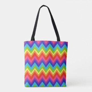 Tote del bolso de compras del viaje del arco iris bolsa de tela