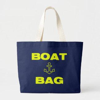 Tote del bolso del barco bolsa tela grande