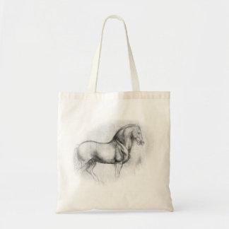 Tote del caballo de Leonardo da Vinci Bolsa Tela Barata