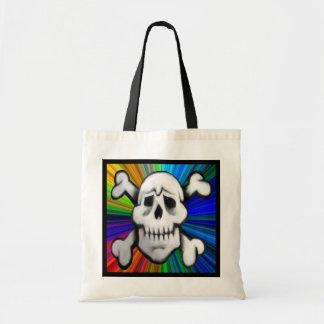 tote del cráneo del pirata del colorburst bolsa tela barata