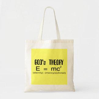 Tote del cristiano de la teoría de dioses bolsas lienzo
