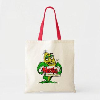 Tote del dibujo animado de la mazorca de maíz de bolsa tela barata