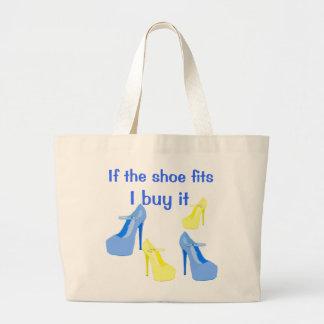 Tote del diseño del zapato del tacón alto bolsa tela grande