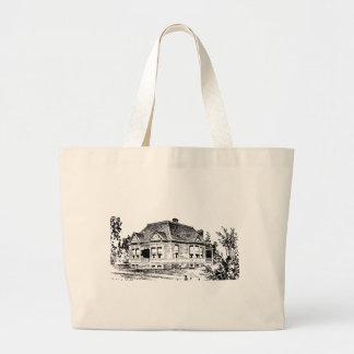 Tote del ejemplo de la casa del Victorian del Bolsa Tela Grande