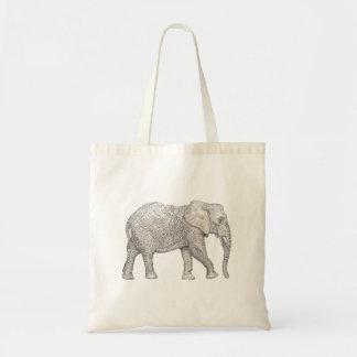 Tote del elefante bolsa tela barata
