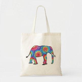 Tote del elefante del teñido anudado bolsa lienzo