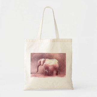 Tote del elefante rosado bolsa