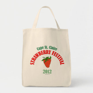 Tote del festival de la fresa del St. Claire del c Bolsa Tela Para La Compra
