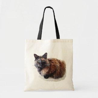 Tote del gato de la concha bolsa