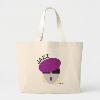 """Tote del """"jazz"""" de AnabelNY Bolsa Tela Grande"""