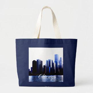 Tote del jumbo de Chicago Bolsa Tela Grande