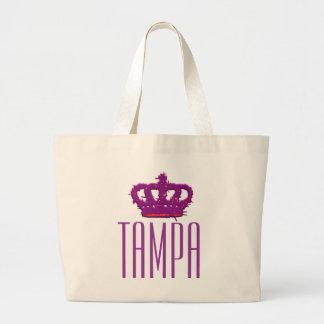 Tote del jumbo de la corona de Tampa Bolsa De Tela Grande