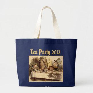 Tote del jumbo de la fiesta del té bolsa de tela grande
