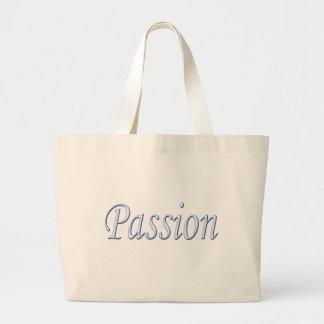 Tote del jumbo de la pasión bolsa tela grande
