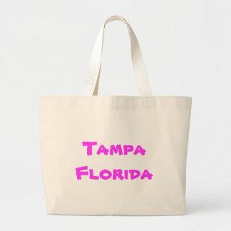 Tote del jumbo de Tampa la Florida Bolsa De Tela Grande
