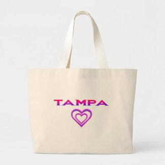 Tote del jumbo del corazón de Tampa Bolsa De Tela Grande