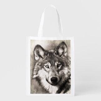 Tote del lobo bolsa para la compra
