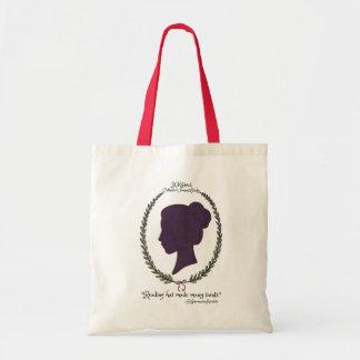 Tote del logotipo del estudio de las mujeres bolsa lienzo