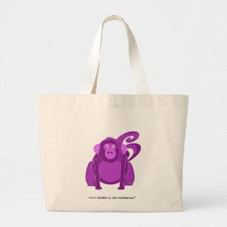 Tote del mono de Momo Bolsa Tela Grande