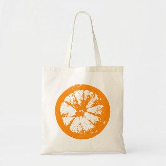 Tote del naranja de la rebanada de la fruta bolsa tela barata