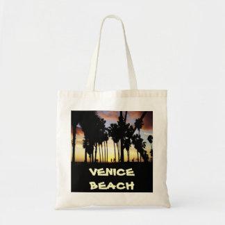 Tote del negocio de la puesta del sol de la playa  bolsa tela barata