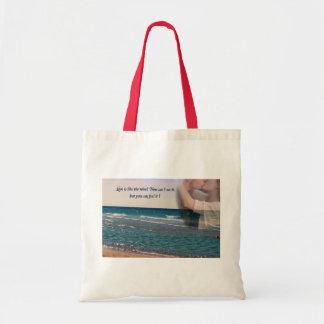 Tote del paisaje marino bolsa de mano