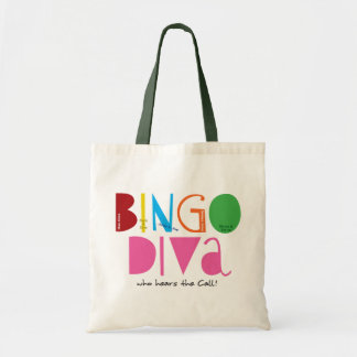 Tote del presupuesto de la diva del bingo bolsas lienzo