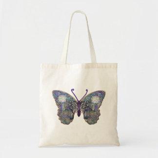 Tote del presupuesto de la mariposa bolsa tela barata