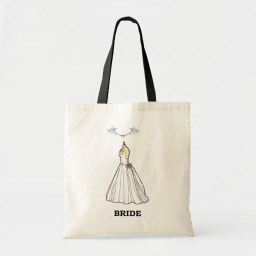 Tote del presupuesto de la novia bolsa tela barata
