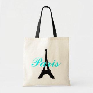 Tote del presupuesto de la torre Eiffel de París Bolsa Tela Barata
