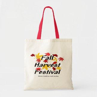 Tote del presupuesto del festival de la cosecha de bolsa tela barata