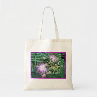 Tote del presupuesto del flor del Mimosa Bolsa Tela Barata