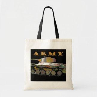Tote del presupuesto del petrolero del ejército bolsas lienzo