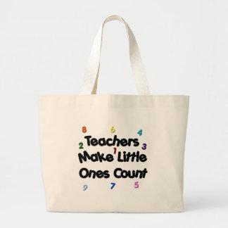 Tote del profesor primario bolsa tela grande