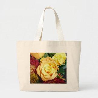 Tote del rosa amarillo bolsa tela grande